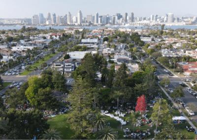 Spreckels Park with San Diego Skyline